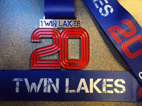 Twin Lakes 20 Medal 2020 - 20 Mile race on 22 March 2020