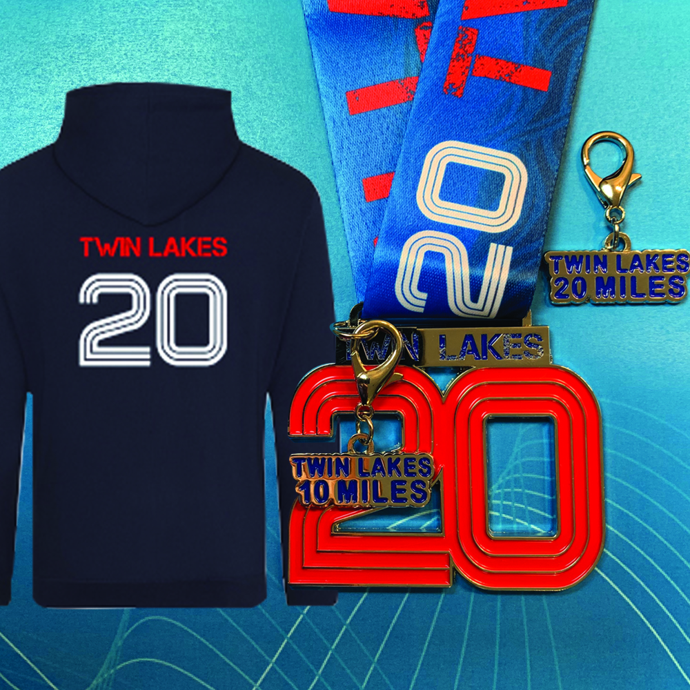 Earn a quality branded hoodie , medal and distance key chain.